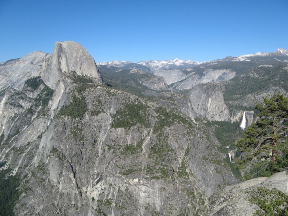 Glacier Point w Yosemite i góry Sierra Nevada