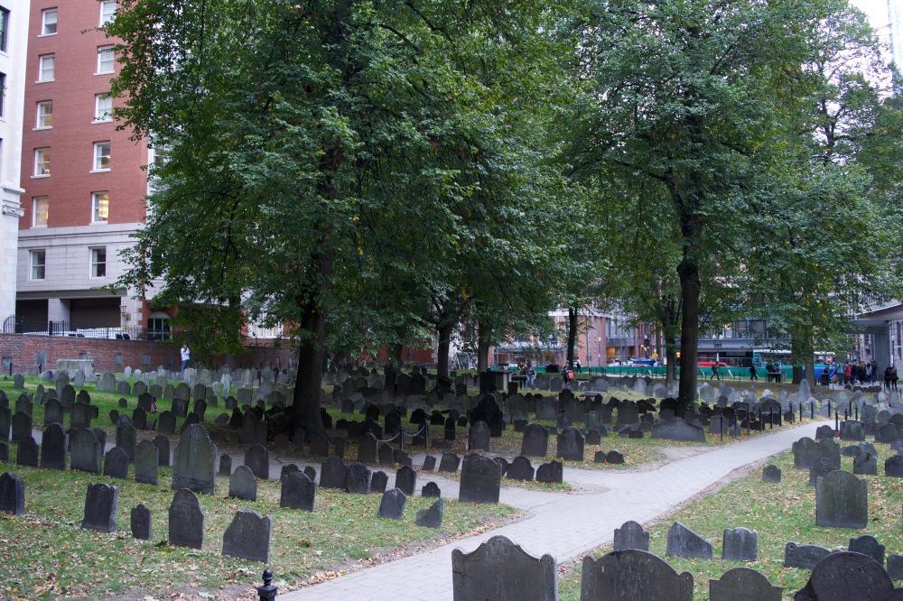 Najstarszy cmentarz w Bostonie. Prawdopodobnie jeden z najstarszych w USA