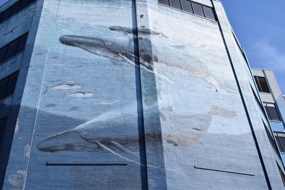 Mural z wielorybami w Filadelfii